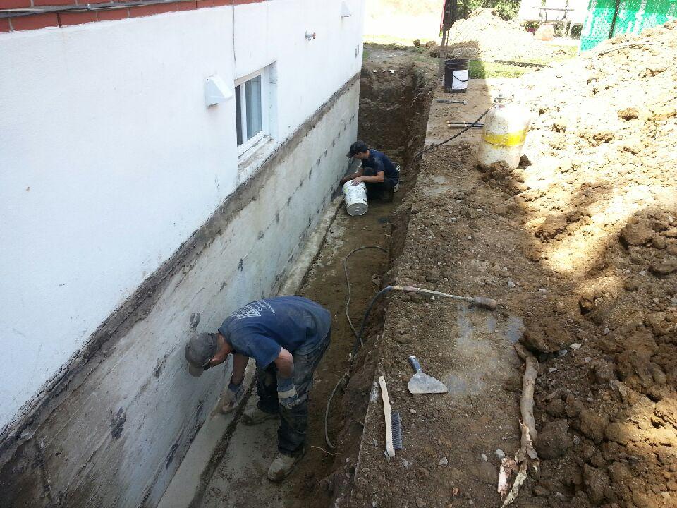 Exemple d'installation d'un drain français extérieur